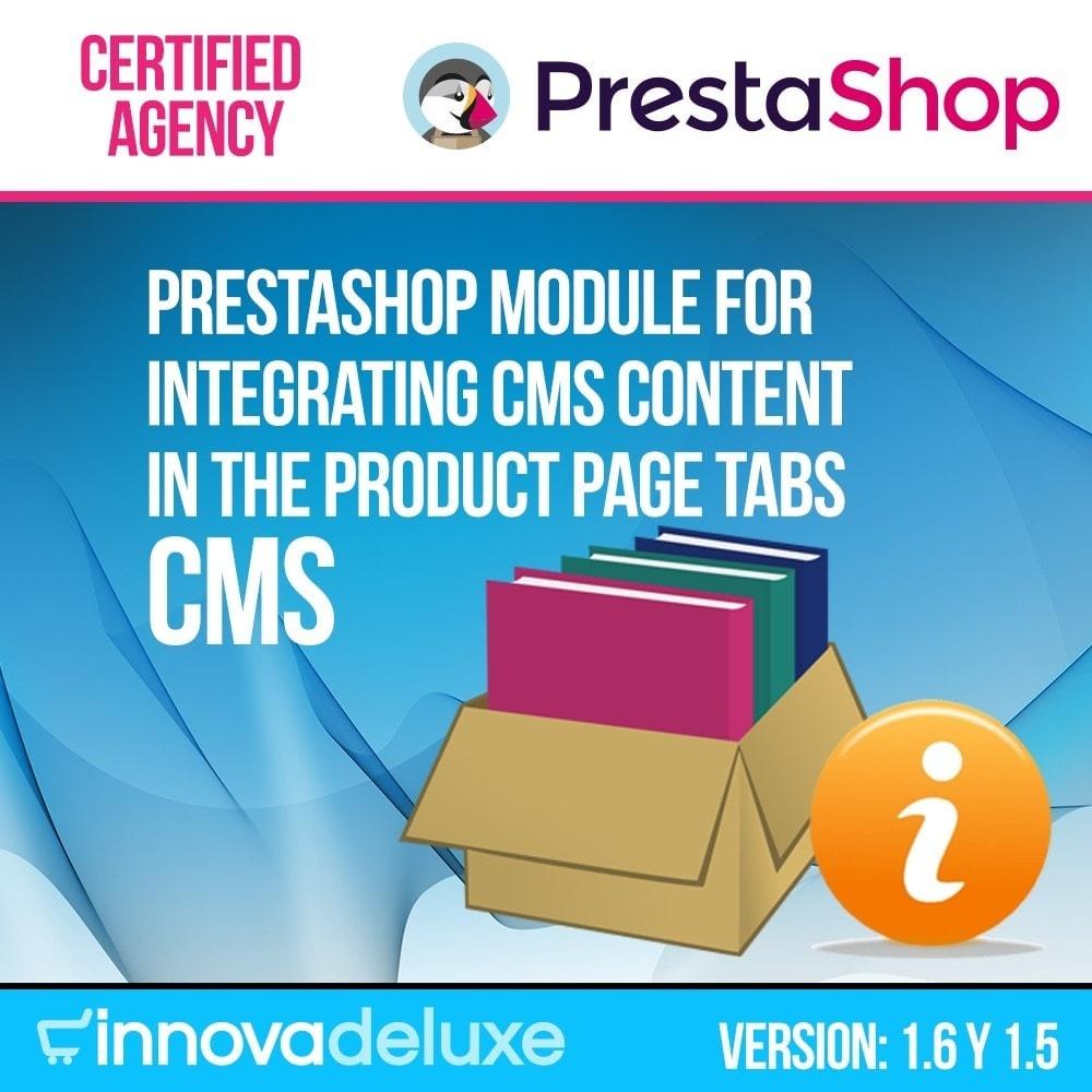 module - Bijkomende Informatie - Information pages (CMS) in Product Tab - 1