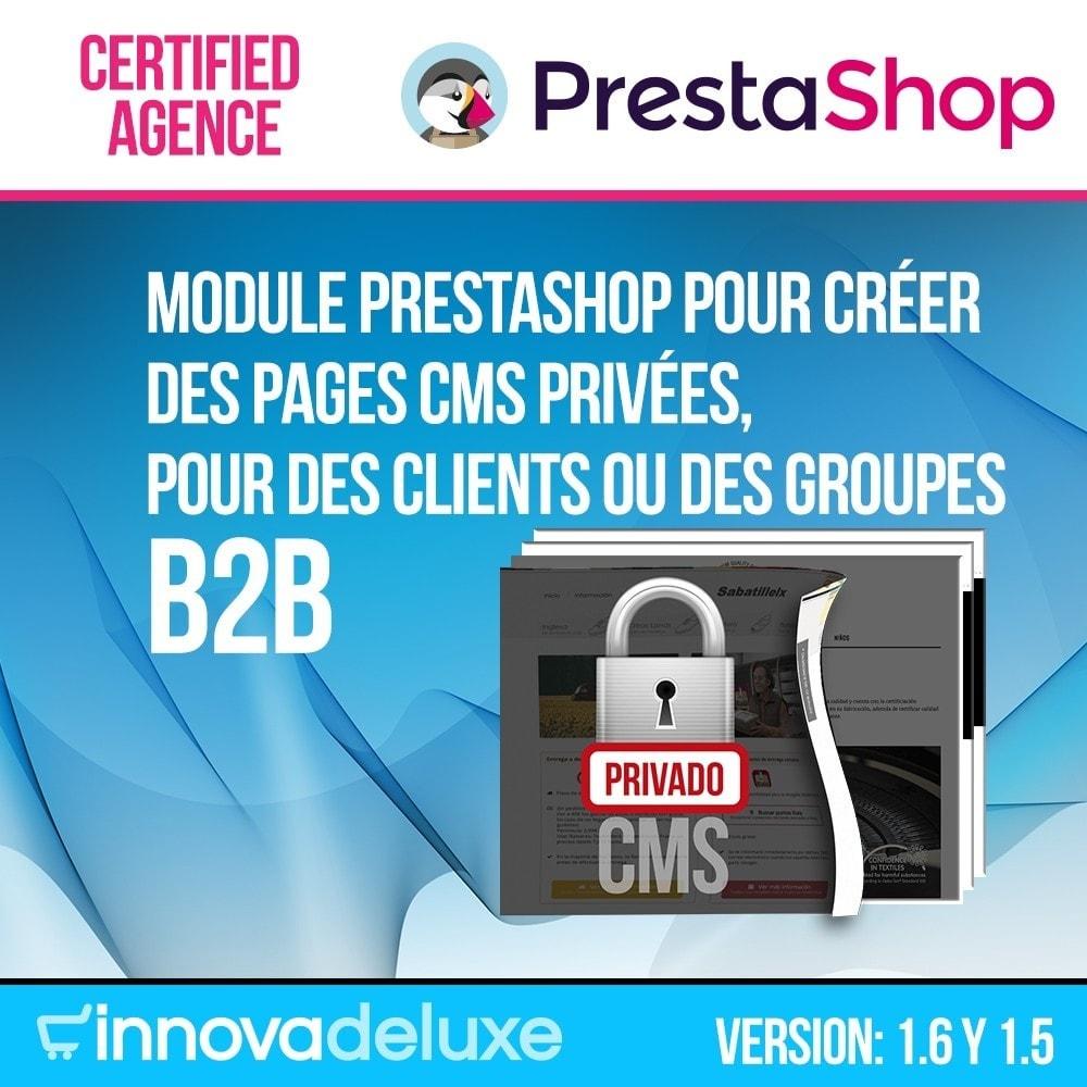module - B2B - Pages privées CMS (Contenu privé) B2B - 1