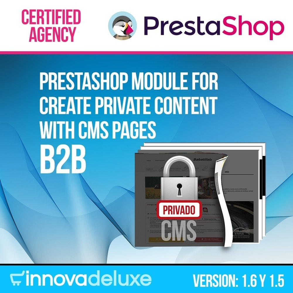 module - B2B - Private CMS (Section CMS Private) B2B - 1