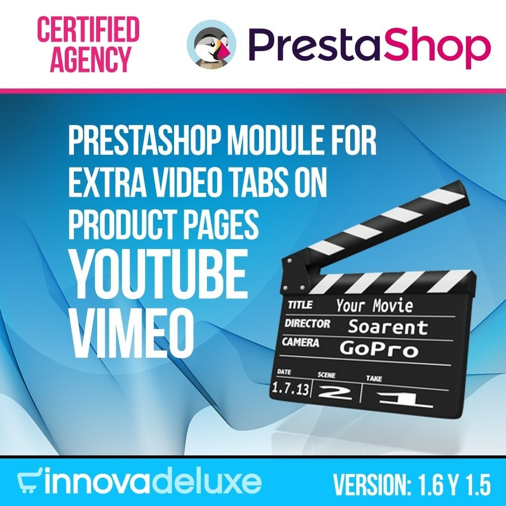 module - Vídeos & Música - Videos (YouTube - Vimeo) in Product Tab - 1