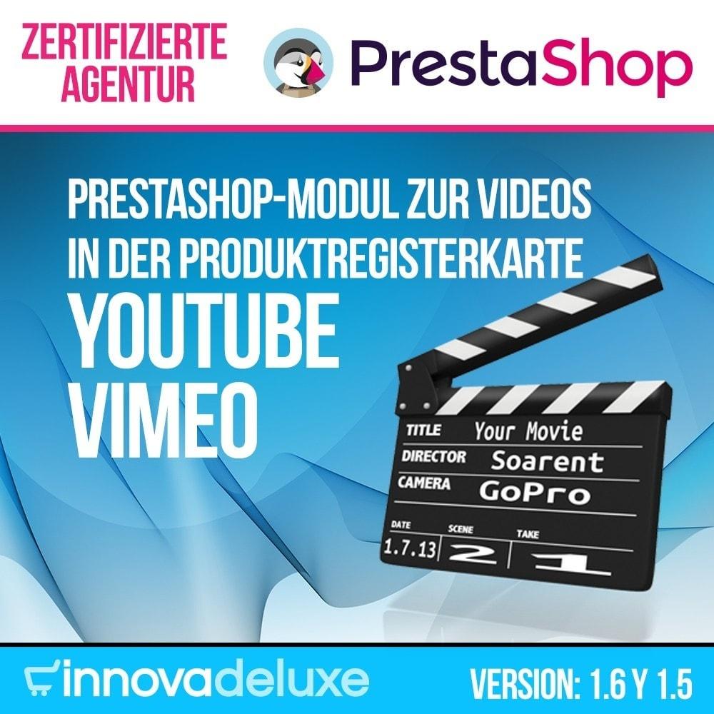 module - Videos & Musik - Videos (Youtube – Vimeo) in der Produktregisterkarte - 1