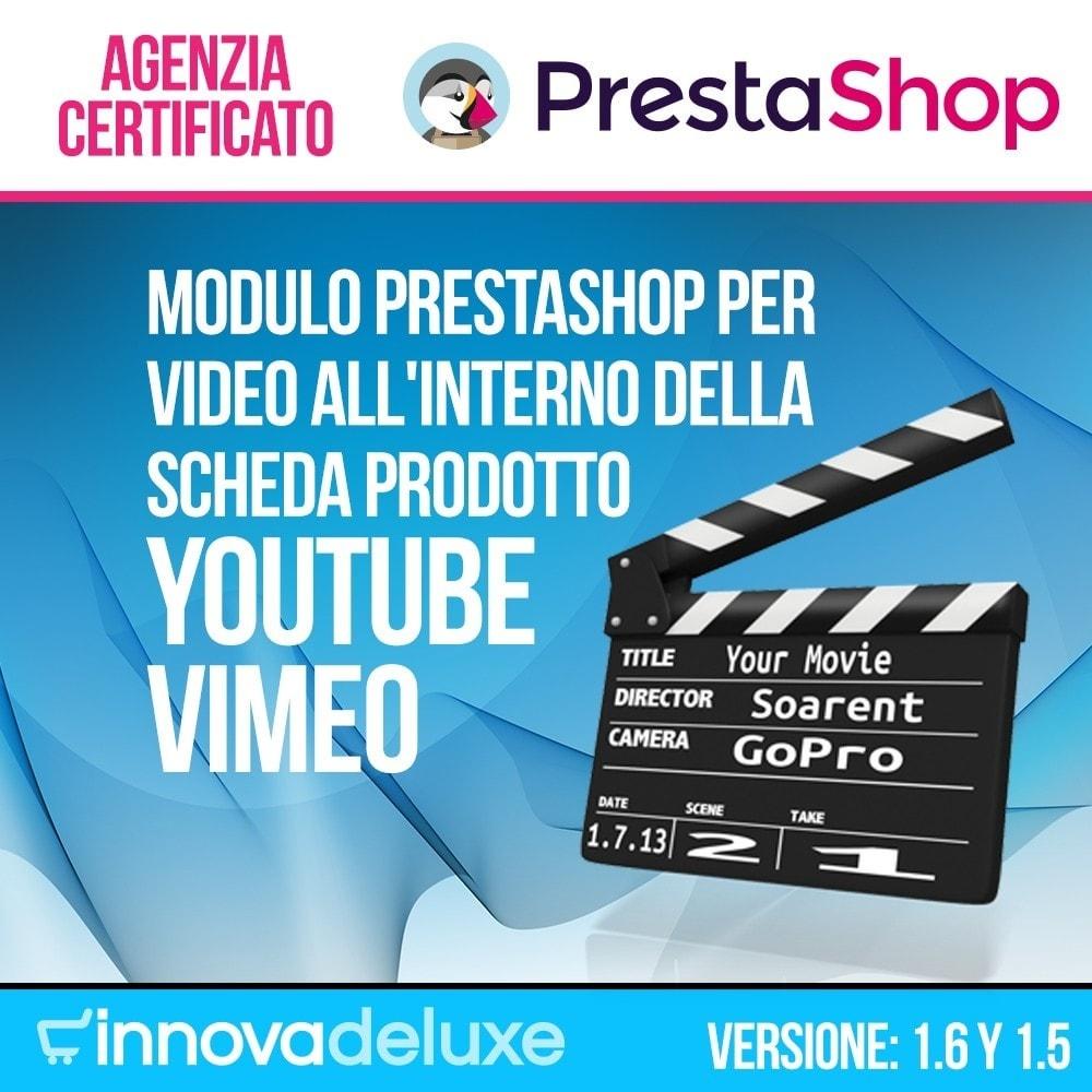 module - Video & Musica - Video (Youtube Vimeo) all'interno della scheda prodotto - 1