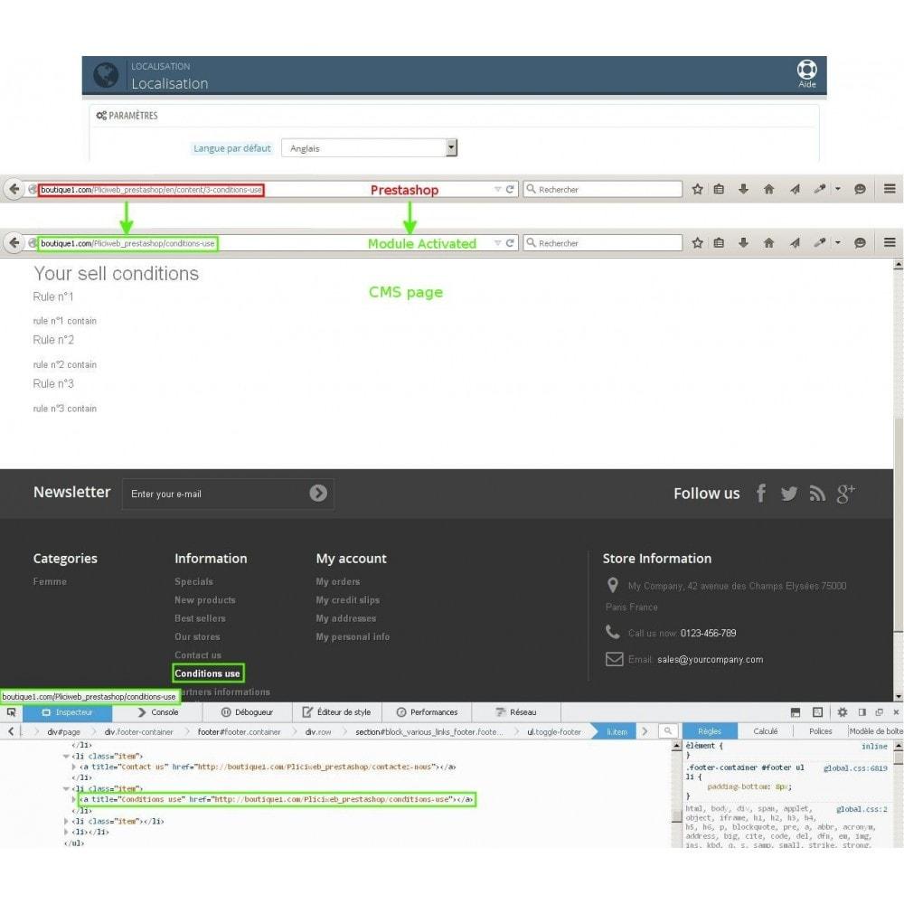 module - Gestão de URL & Redirecionamento - Url cms produits categories modifier - 5
