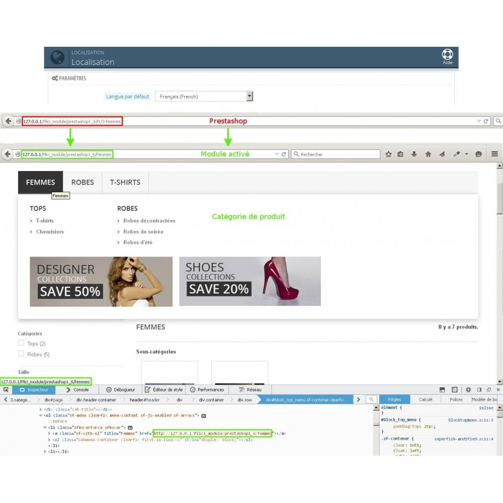 module - URL & Redirections - Url cms produits catégories modifier - 1