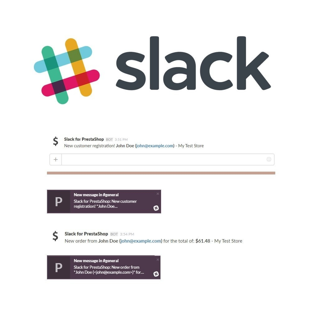 module - E-mails & Notícias - Slack for PrestaShop Integration - 2