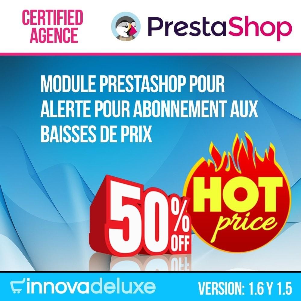module - E-mails & Notifications - Alerte pour abonnement aux baisses de prix - 1
