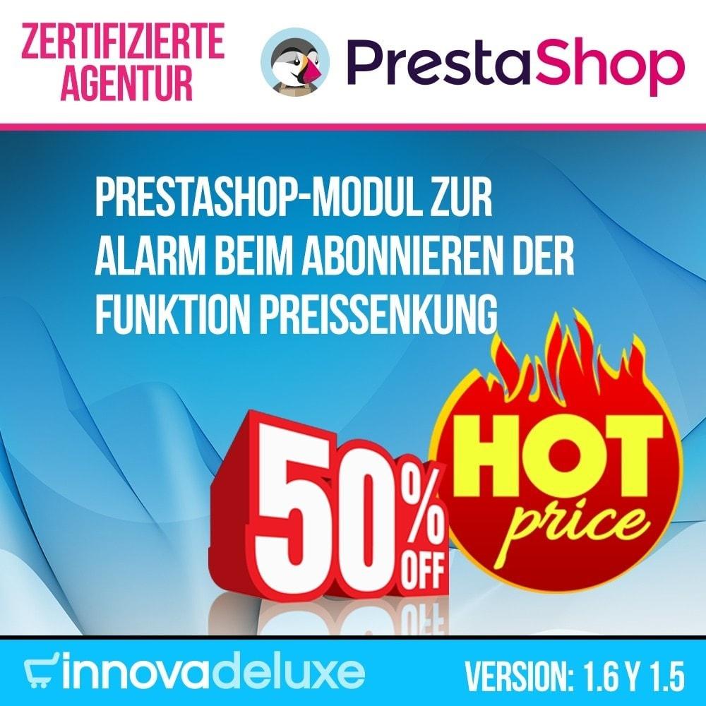 module - E-Mails & Benachrichtigungen - Alarm beim Abonnieren der Funktion Preissenkung - 1