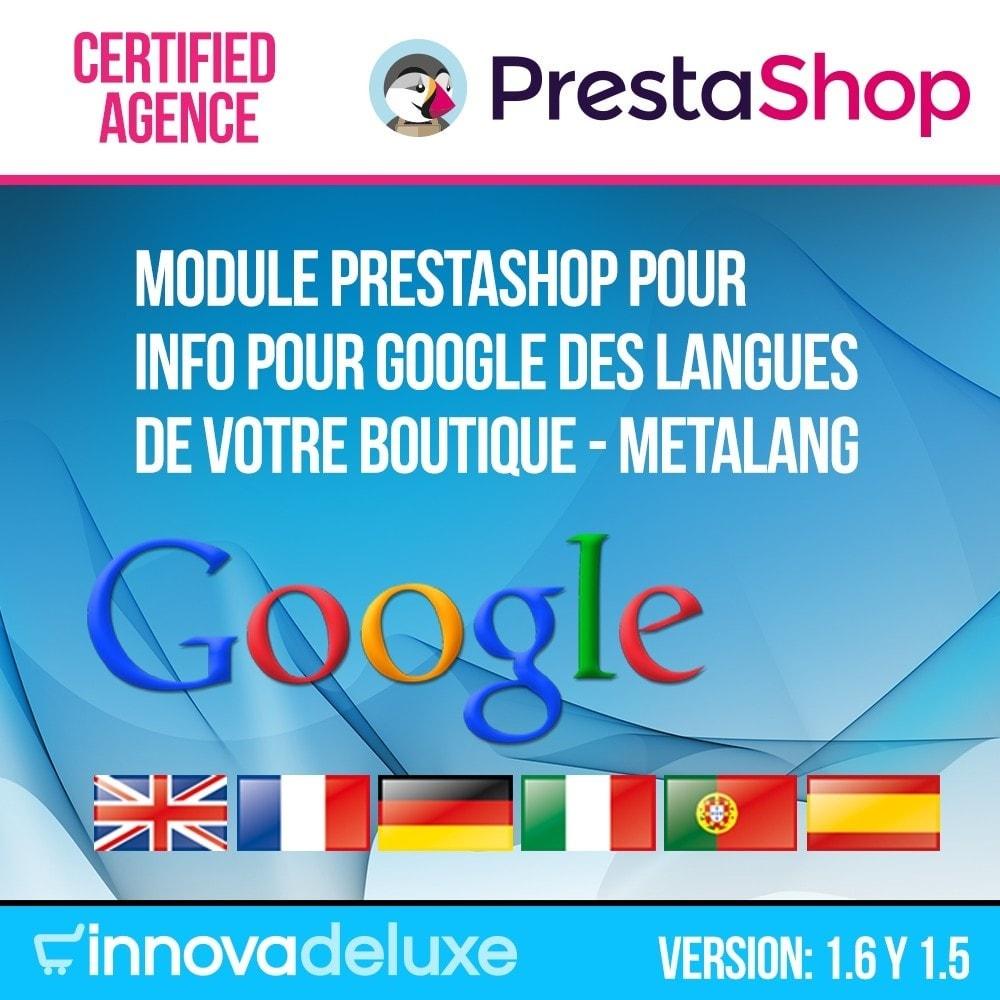 module - International & Localisation - Info pour Google des langues de votre boutique - 1