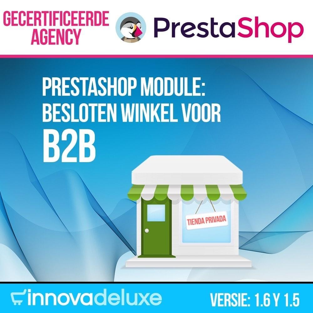 module - B2B - Besloten winkel voor B2B - 1