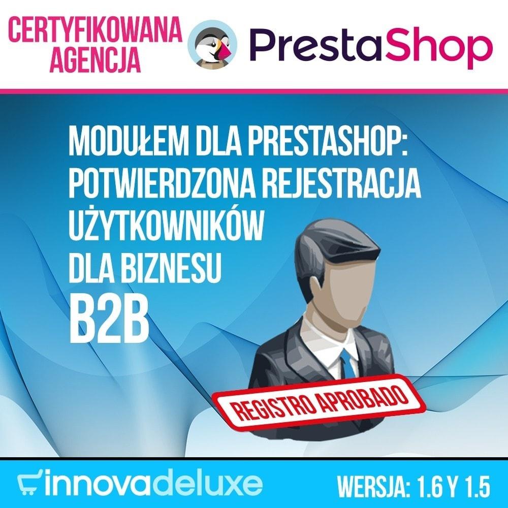 module - B2B - Potwierdzona rejestracja użytkowników dla biznesu B2B - 1