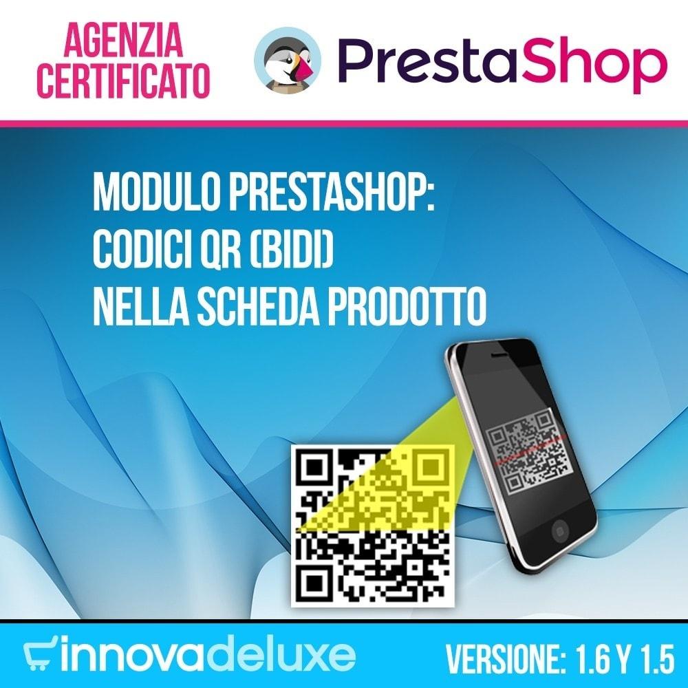 module - Dispositivi mobili - Codici QR nella scheda prodotto (BIDI) - 1