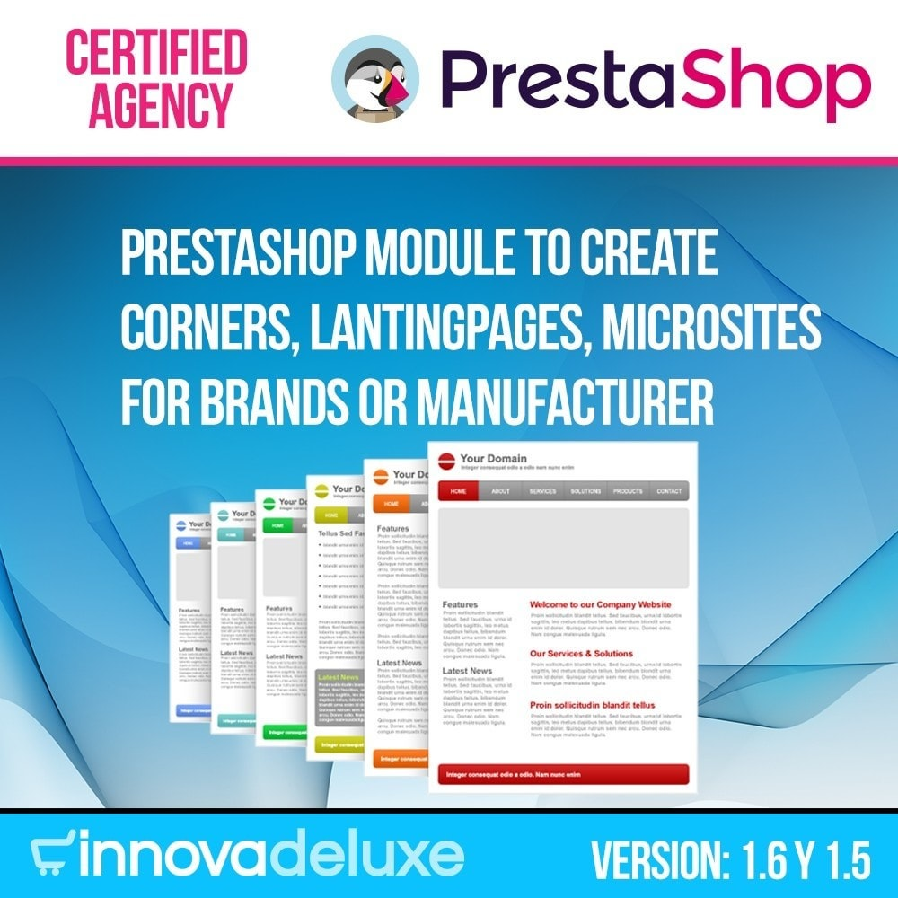 module - SEO (Referenciamento natural) - Landing pages, cornes or microsites creator - 1