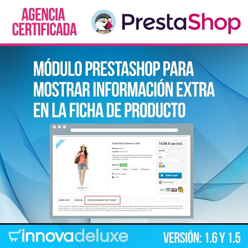 module - Informaciones adicionales y Pestañas - Pestaña con información extra en ficha de producto - 1