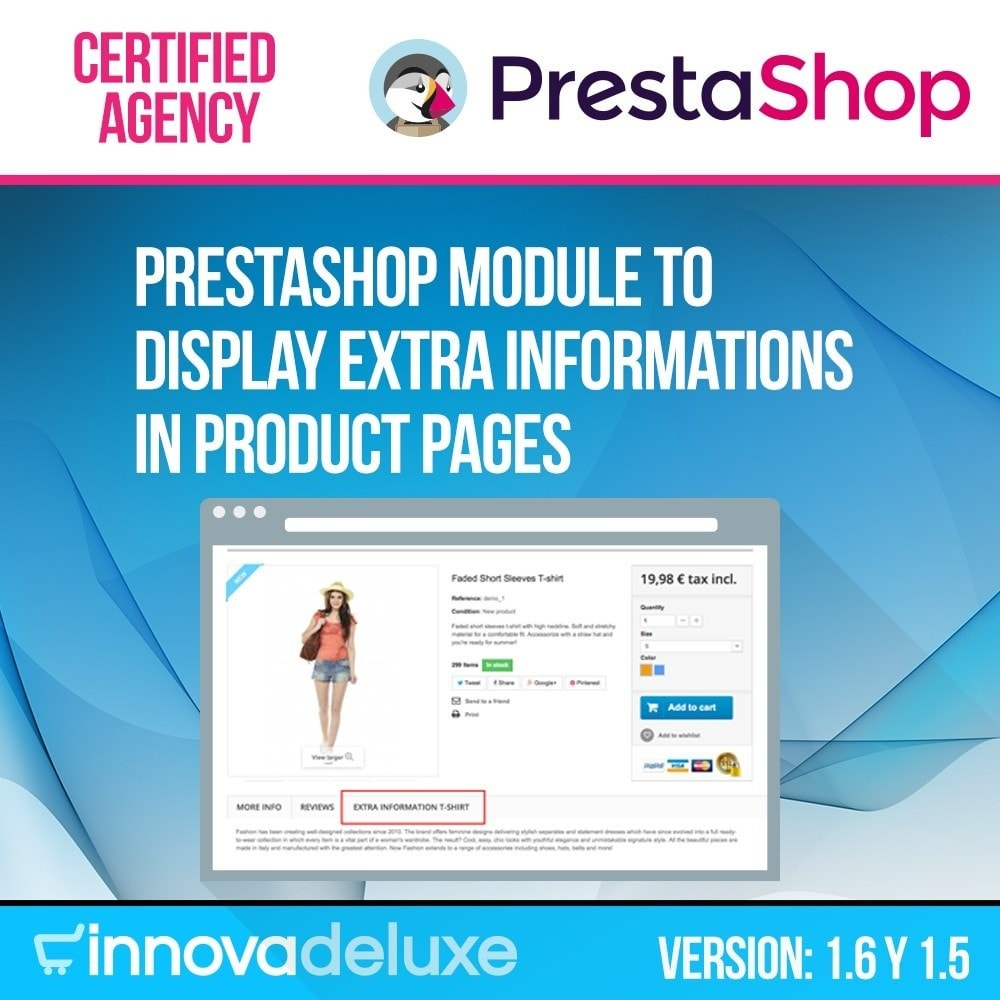 module - Additional Information & Product Tab - Product page extra information tab - 1