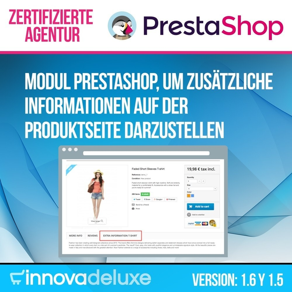 module - Zusatzinformationen & Produkt-Tabs - Zusätzlichen Informationen die einzelnen Produktseiten - 1