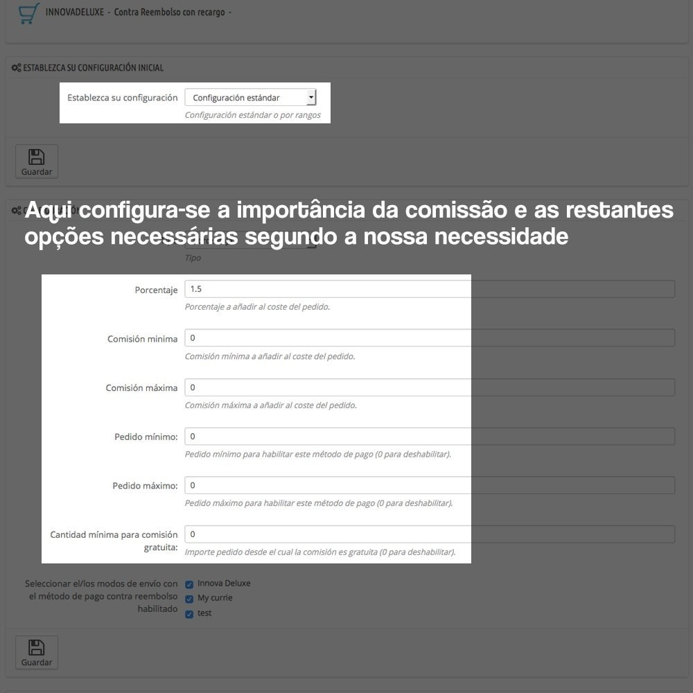 module - Pagamento em dinheiro na entrega - COD - Cashdelivery with fee (ranks and restrictions) - 4