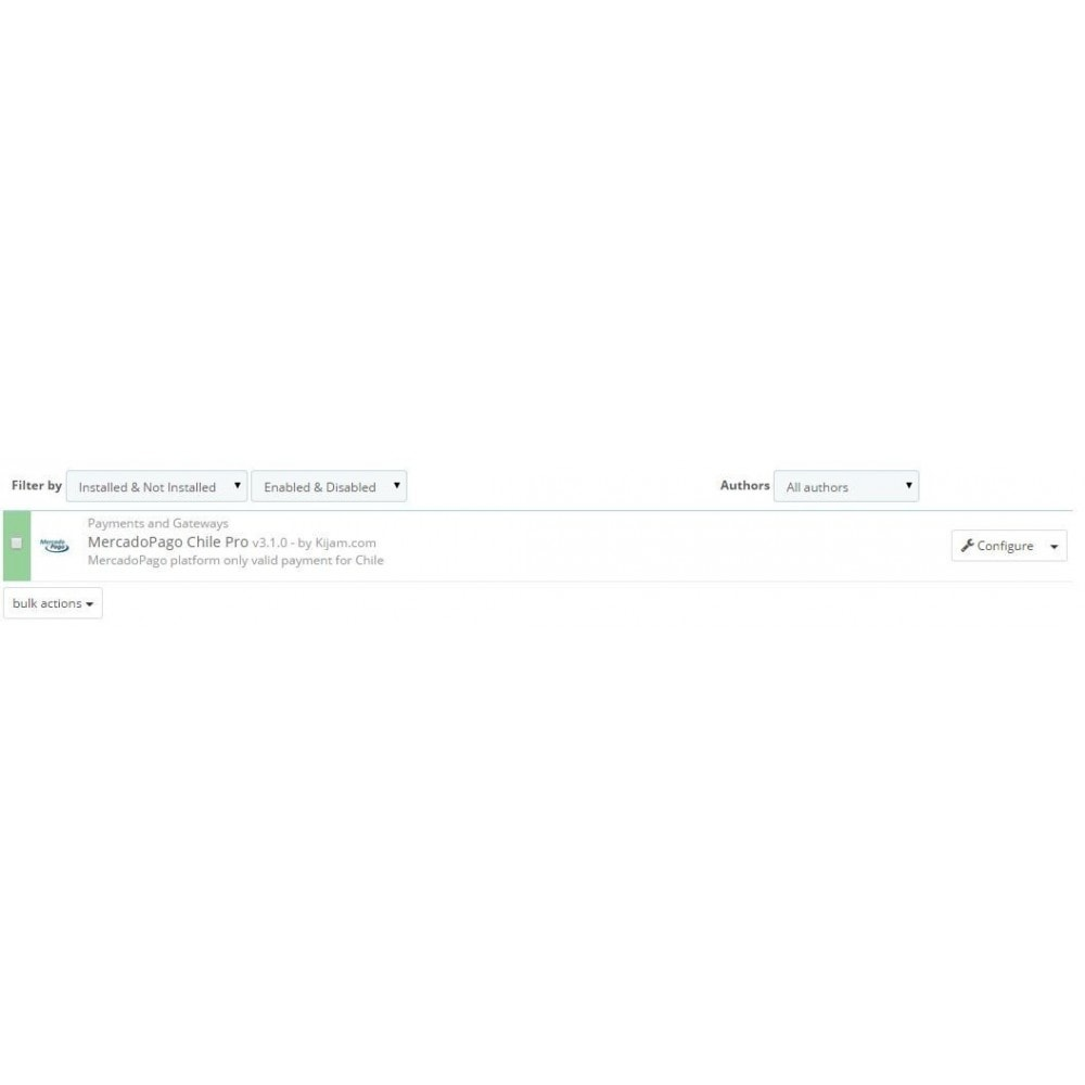 module - Pagamento con Carta di Credito o Wallet - MercadoPago Chile Pro - 1