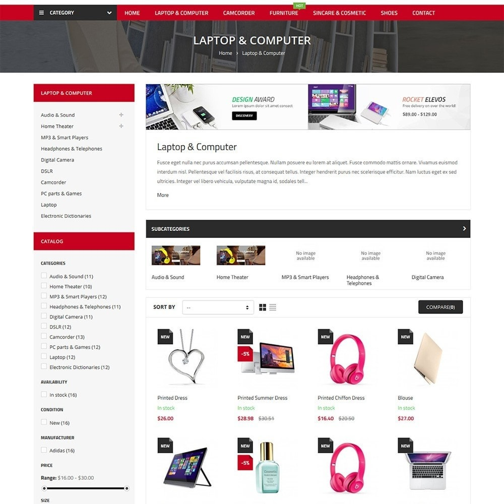 theme - Электроника и компьютеры - ChoiceMarket - High Tech Responsive - 5