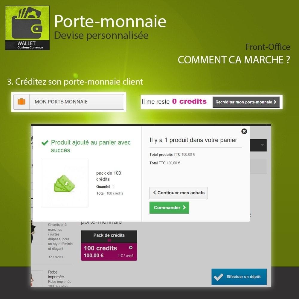 module - Paiement par Carte ou Wallet - Porte-monnaie - Devise personnalisée - 4