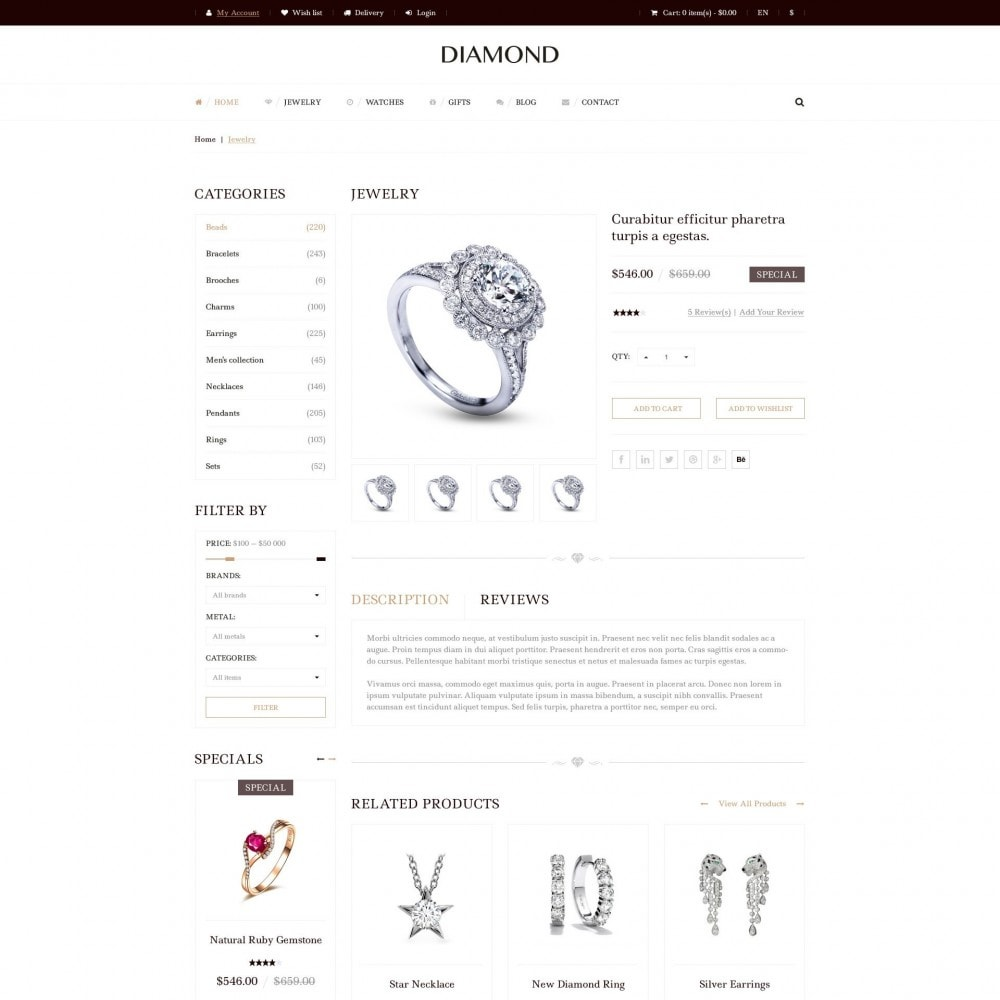 theme - Joalheria & Acessórios - Diamante - Joalheria - 4