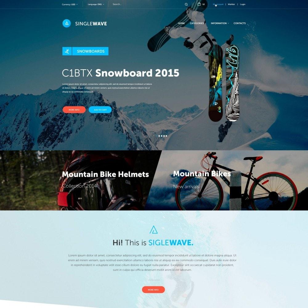 theme - Deportes, Actividades y Viajes - Singlewave - Deporte Almacenar - 2