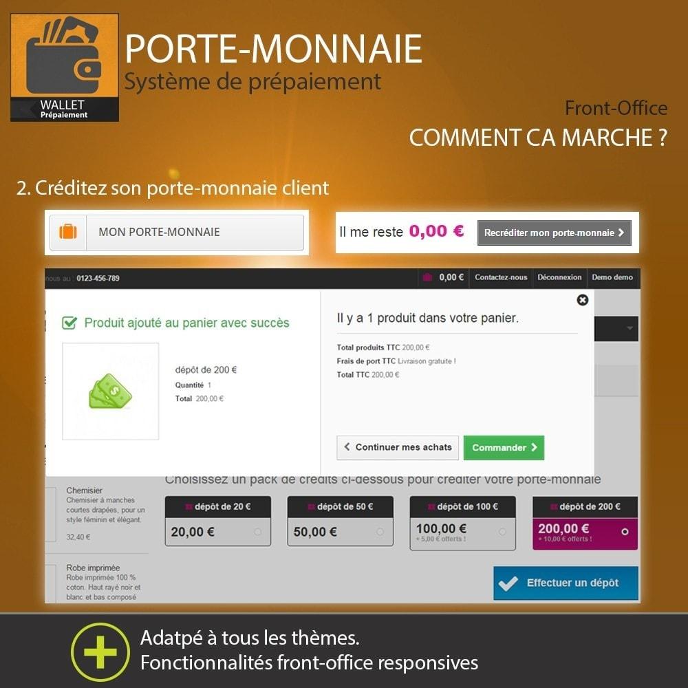 module - Paiement par Carte ou Wallet - Porte-monnaie - Prépaiement avec système de cash back - 4