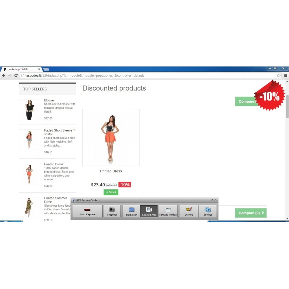 module - Pop-up - Give user a discount on exit - conversion popup - 3