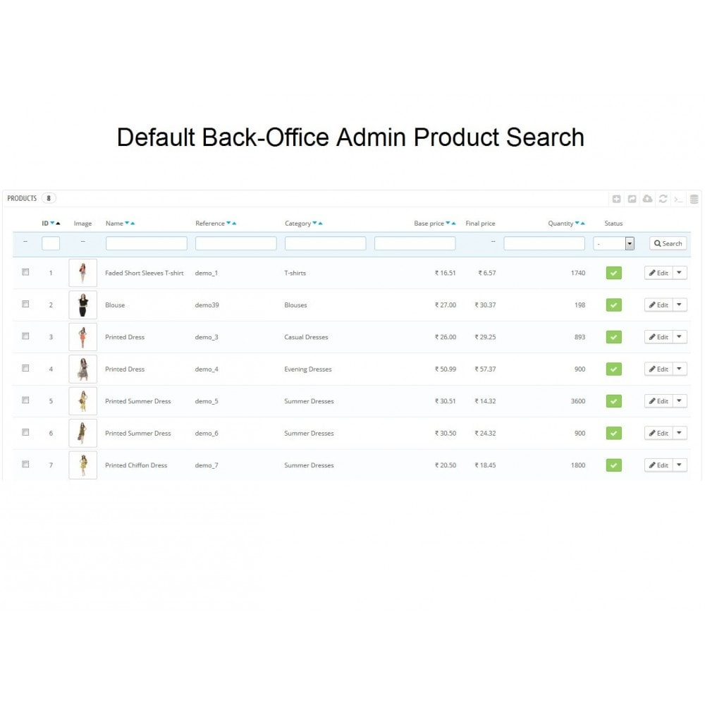 module - Administratieve tools - Admin Search Product Combinations by Reference - 2