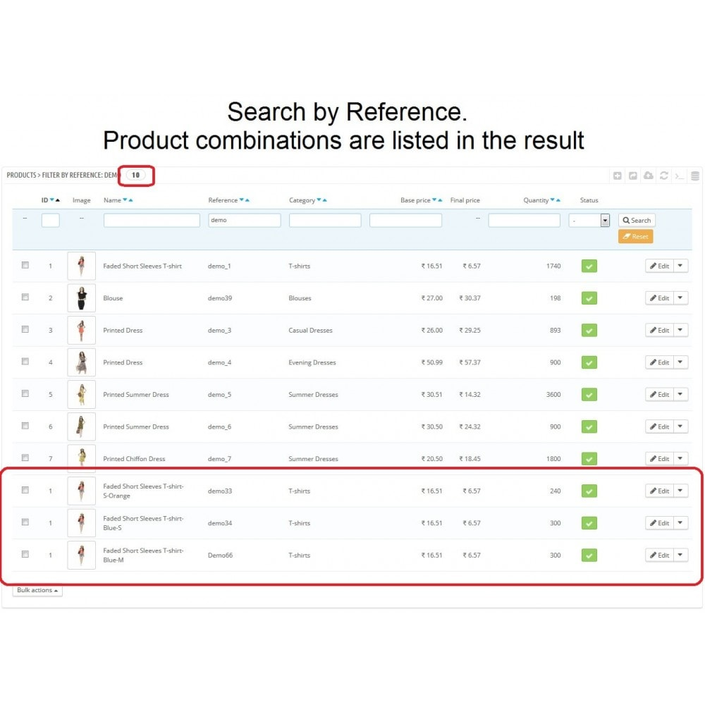 module - Amministrazione - Admin Search Product Combinations by Reference - 3