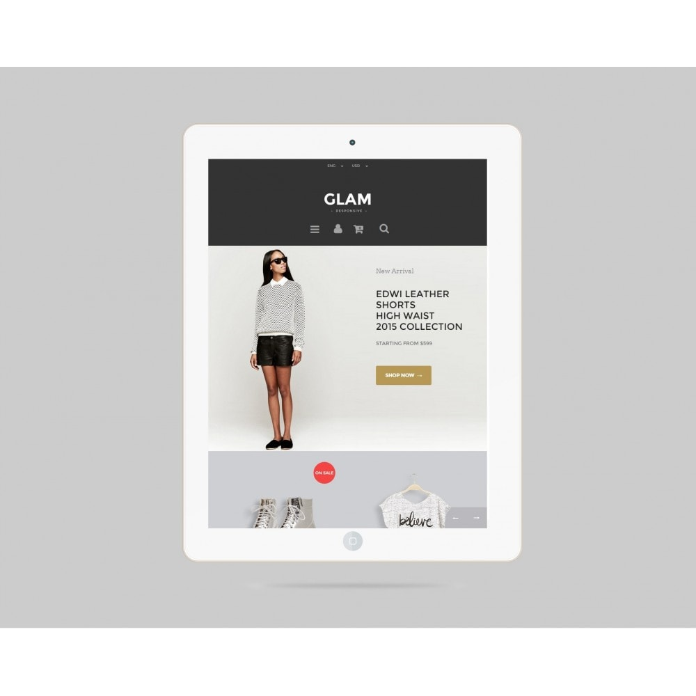 theme - Mode & Schoenen - Glam Prestashop 1.6 Responsive Template - 4