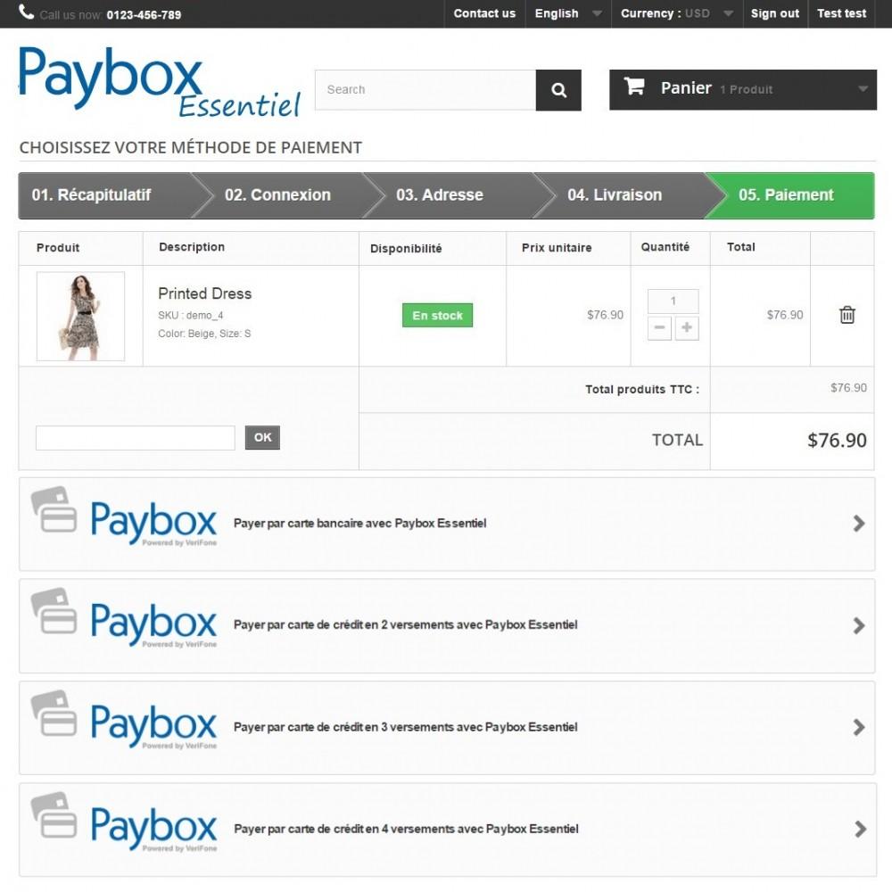 module - Paiement par Carte ou Wallet - Paybox Essentiel (1.5, 1.6 & 1.7) - 3