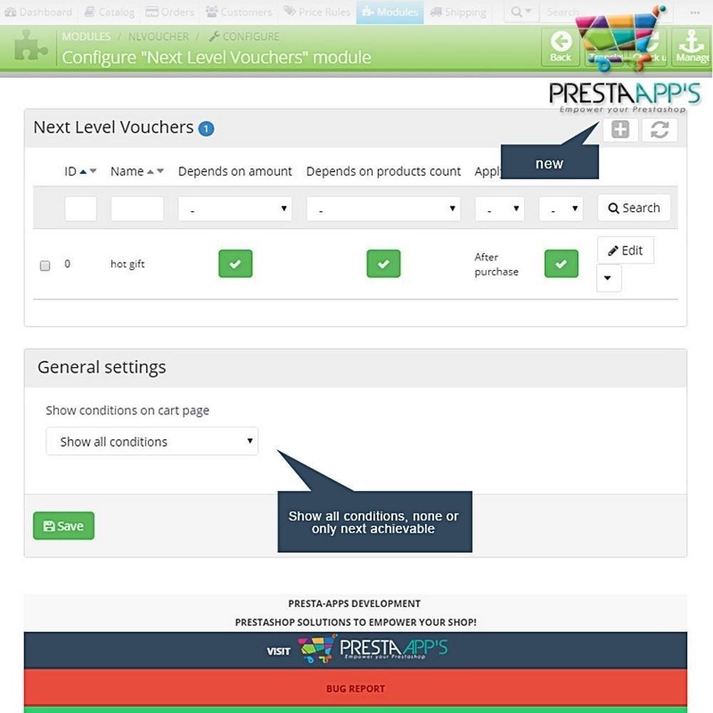 module - Promoções & Brindes - Next Level Voucher - 14