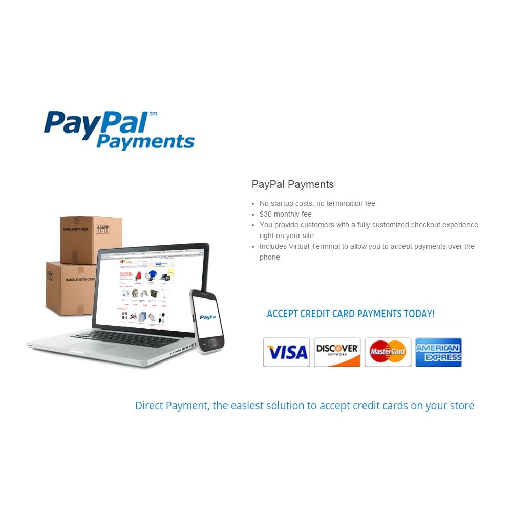 module - Pagamento con Carta di Credito o Wallet - PayPal Direct Payments - 2