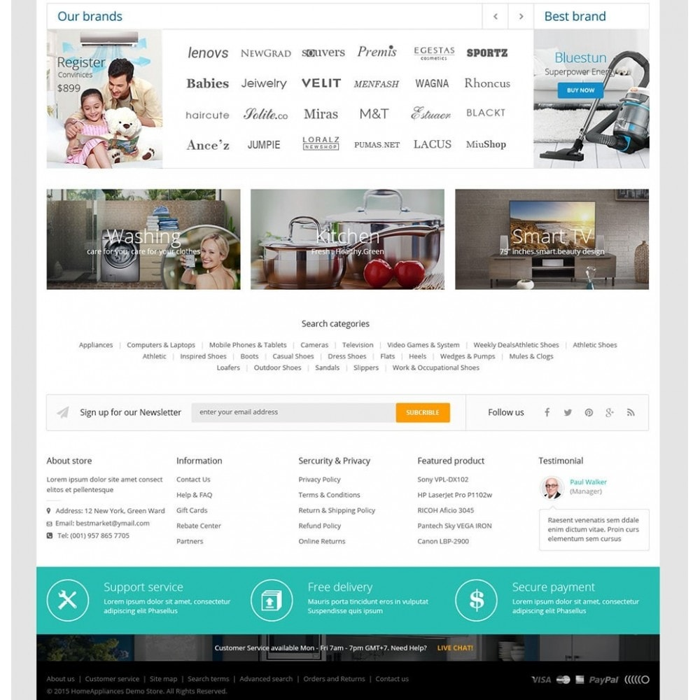 theme - Dom & Ogród - Home Appliances - Neutral Responsive PrestaShop Theme - 4
