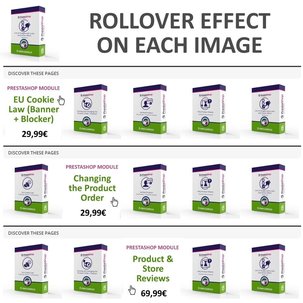 module - Bloki, Zakładki & Banery - Block of Images with Rollover Effect - Responsive - 4