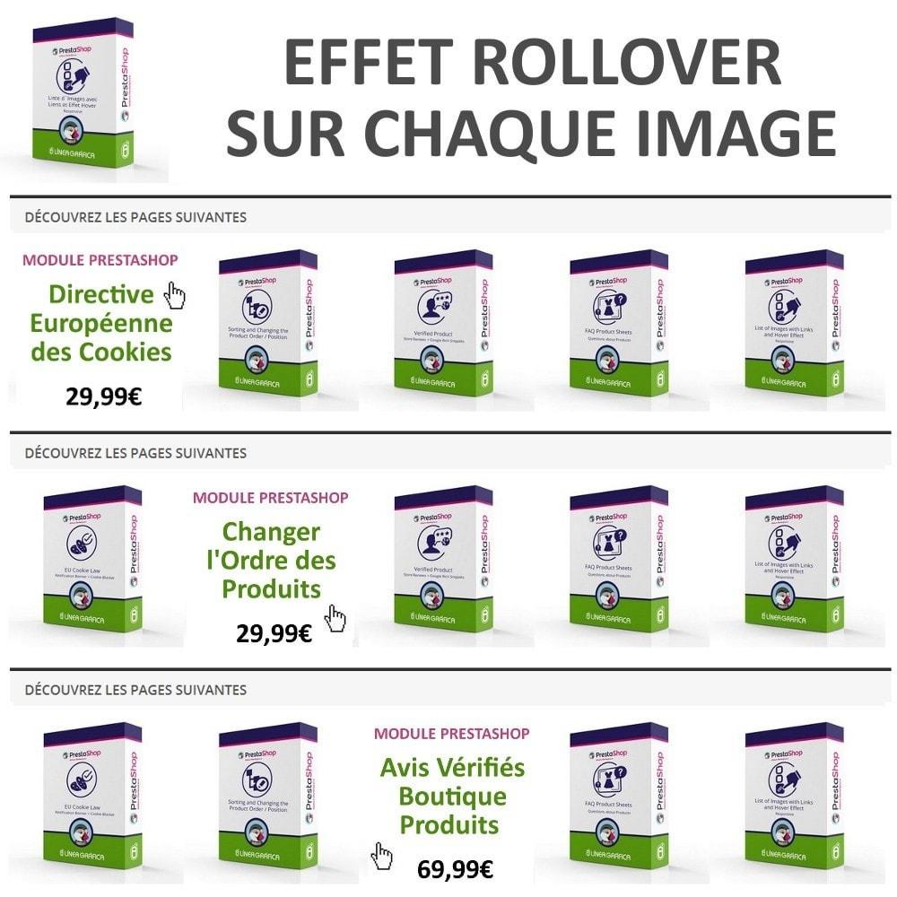 module - Blocs, Onglets & Bannières - Bloc d´Images avec Effet Rollover - Responsive - 4