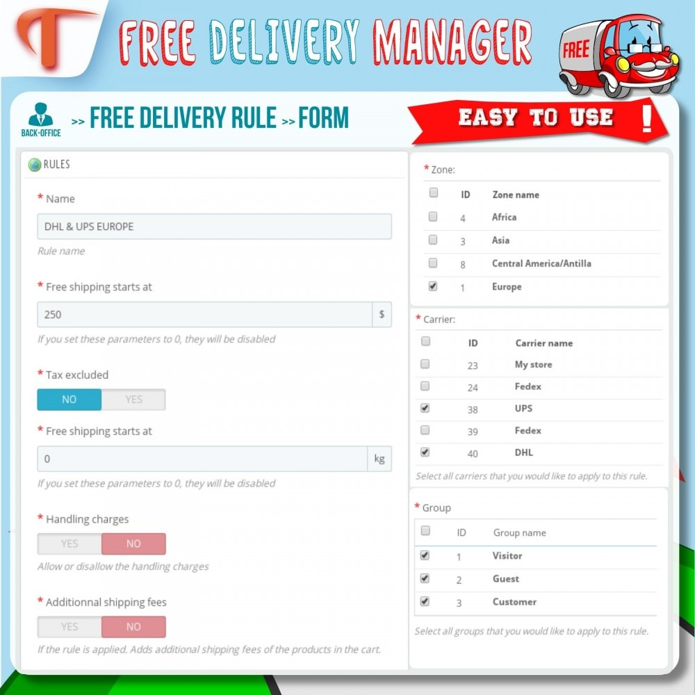 module - Shipping Costs - Free Delivery Manager - 4