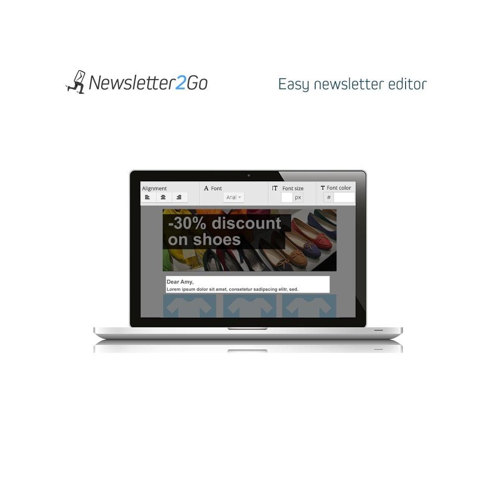 module - Рассылка новостей и SMS - Newsletter2Go - 2
