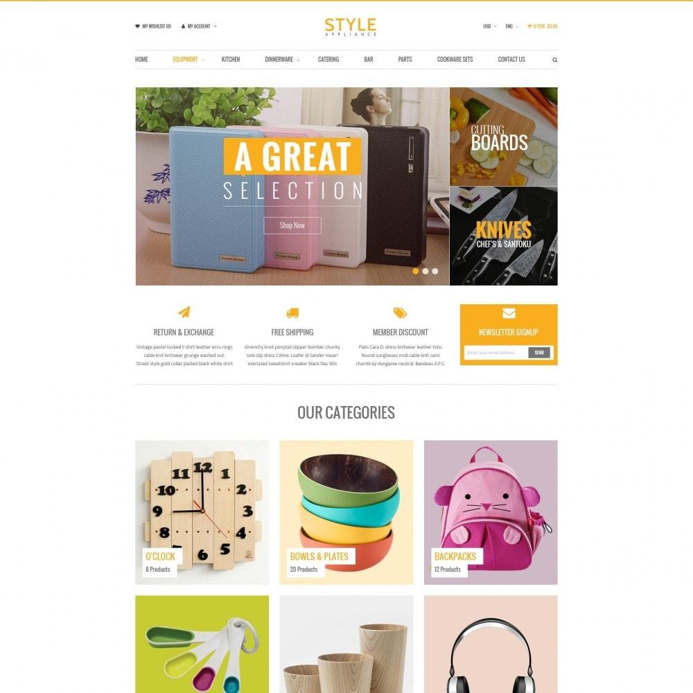 theme - Дом и сад - Kitchen & Home Appliances Responsive PrestaShop Theme - 1