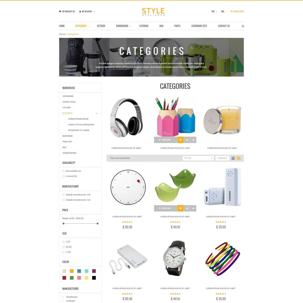 theme - Dom & Ogród - Kitchen & Home Appliances Responsive PrestaShop Theme - 2