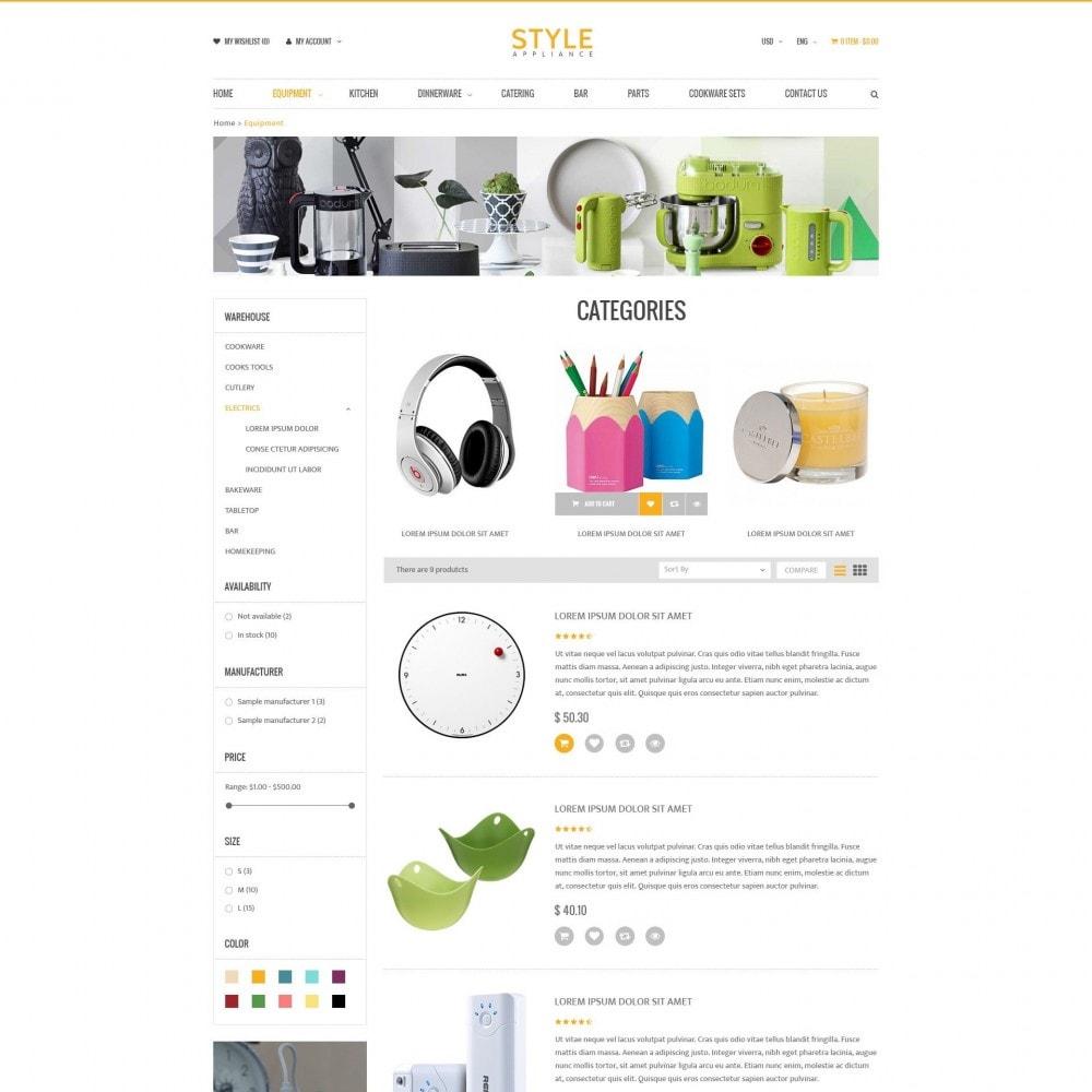 theme - Дом и сад - Kitchen & Home Appliances Responsive PrestaShop Theme - 3