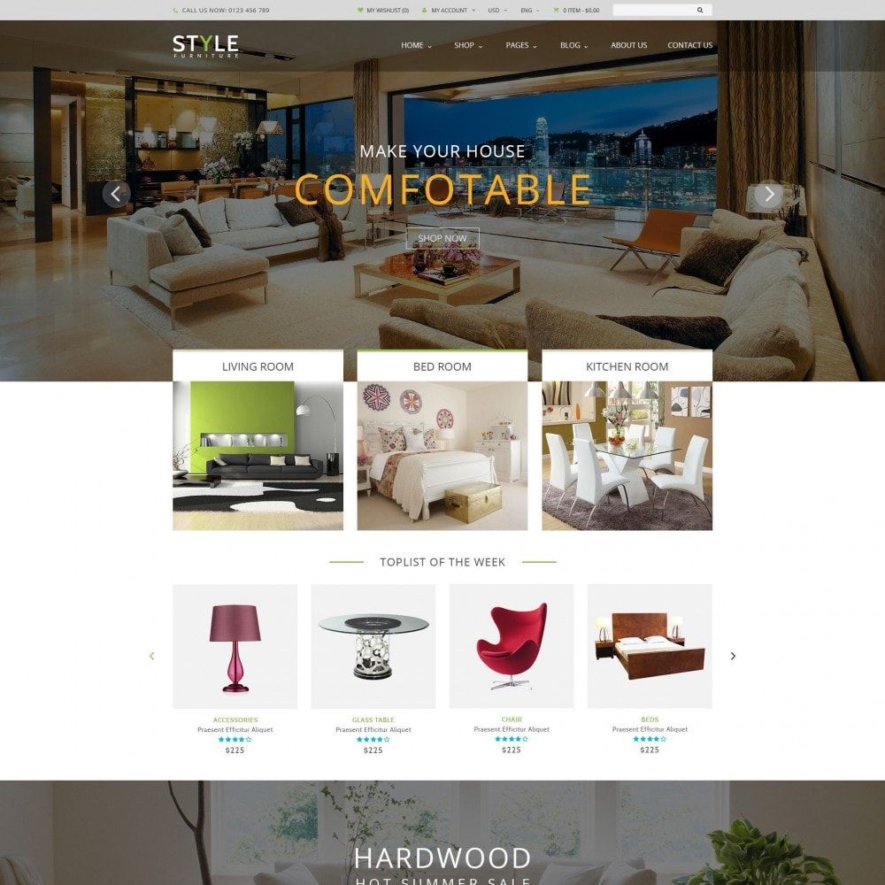 theme - Huis & Buitenleven - Responsive Furniture & Interior PrestaShop Theme - 1
