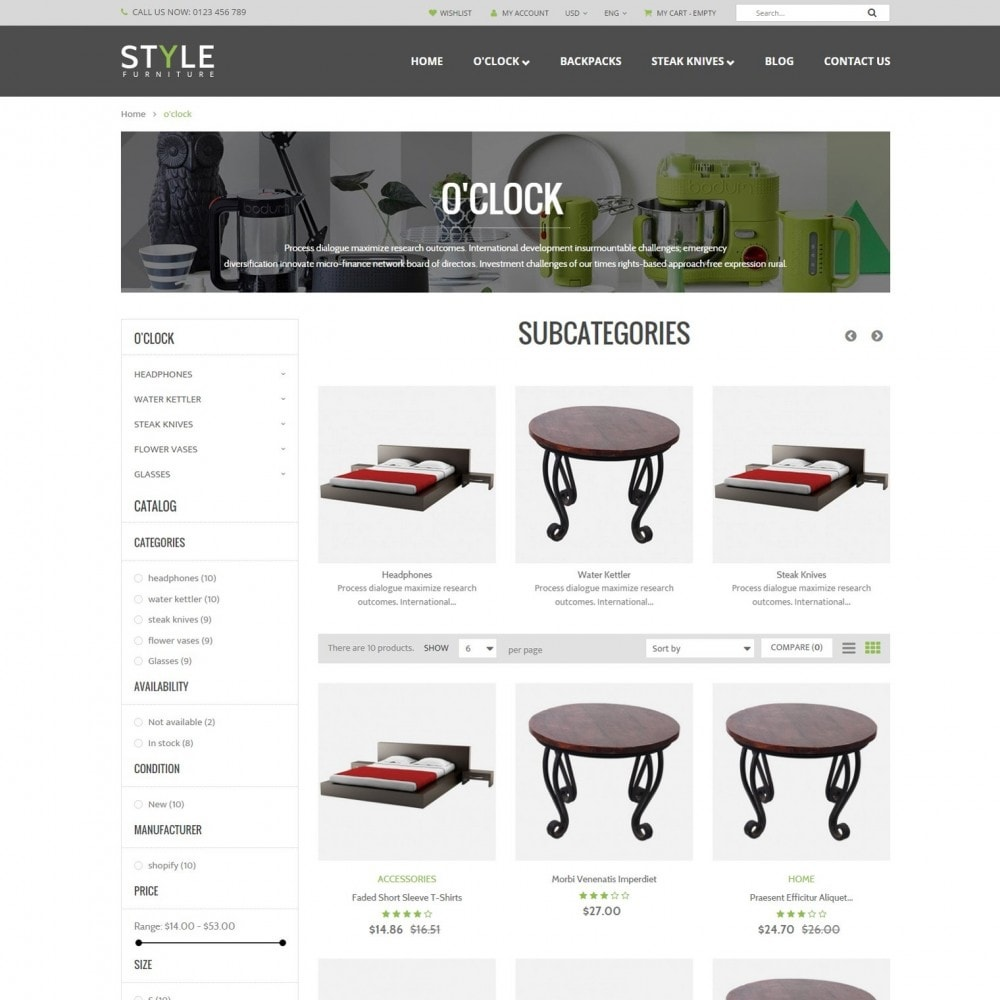 theme - Дом и сад - Responsive Furniture & Interior PrestaShop Theme - 2