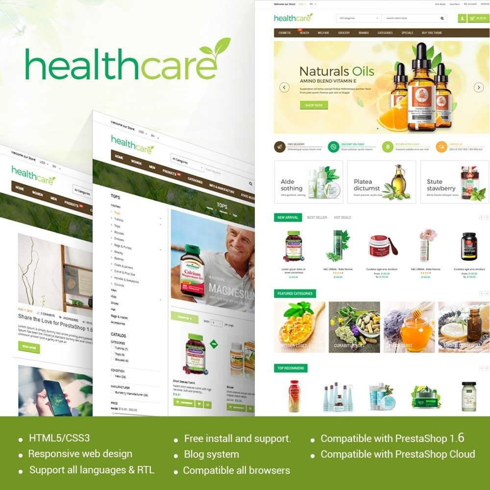 theme - Здоровье и красота - HealthCare - Bio & Medical Store - 1