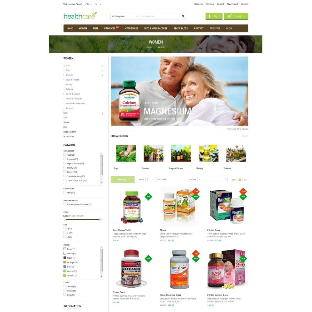 theme - Здоровье и красота - HealthCare - Bio & Medical Store - 4