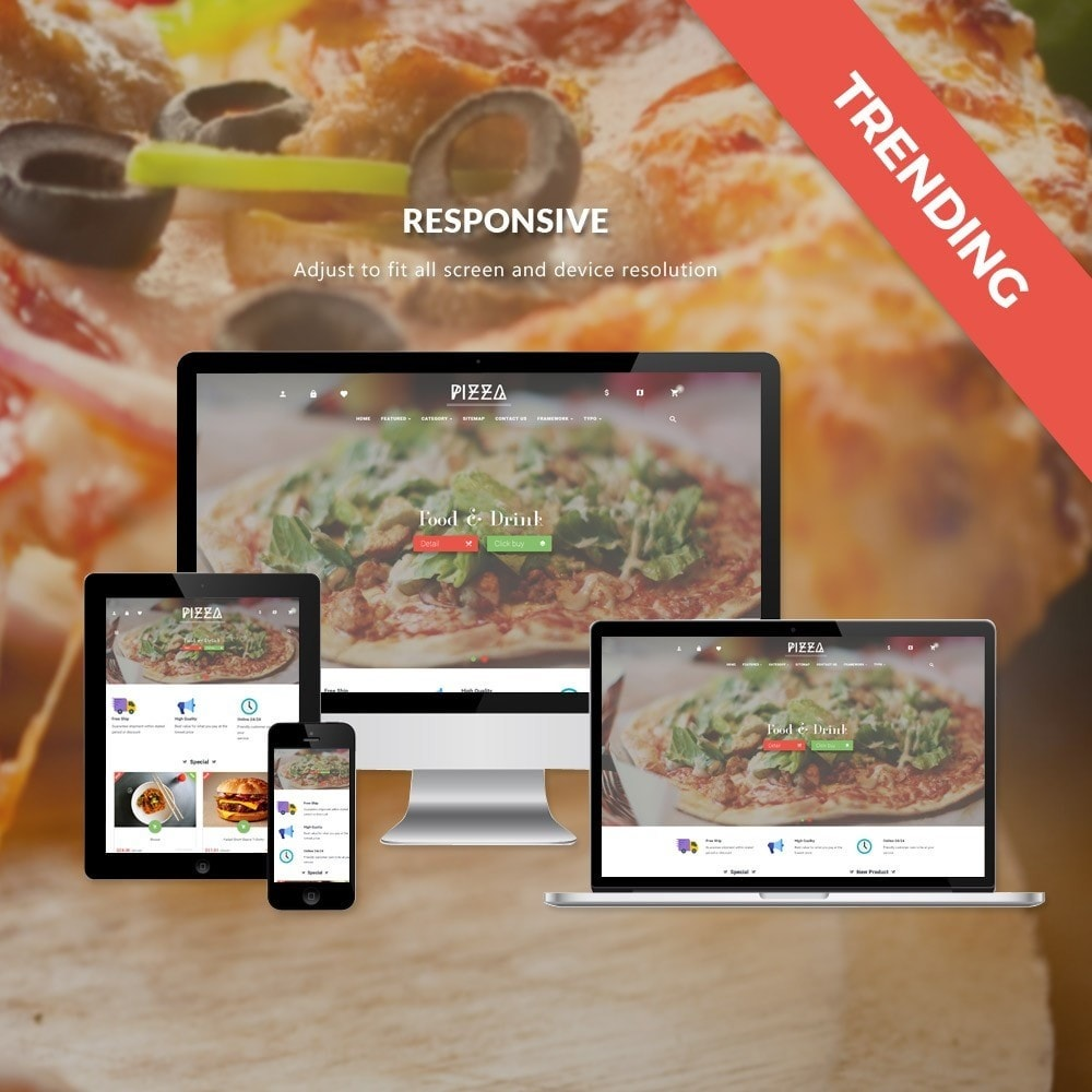 theme - Food & Restaurant - Leo Pizza - 1