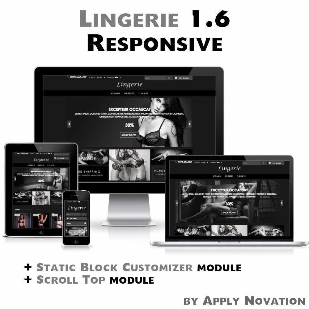 theme - Lingerie & Adult - Lingerie 1.6 Responsive - 1