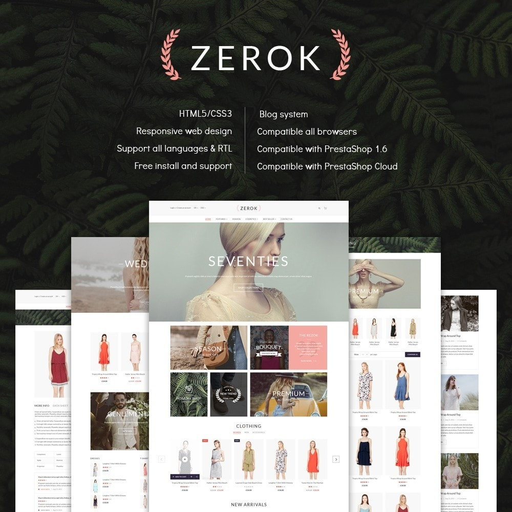 theme - Mode & Schoenen - Zerok - Fashion Store PrestaShop Theme - 1