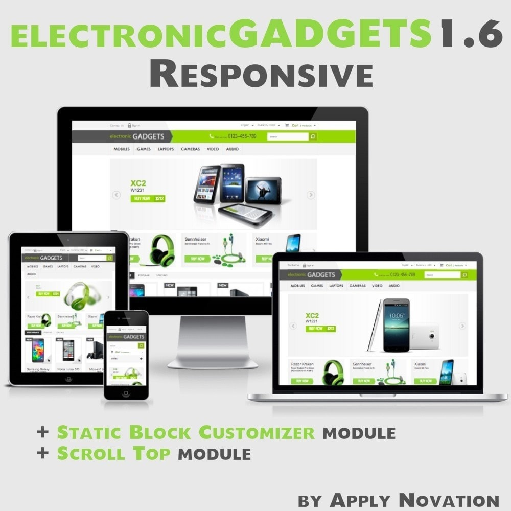 theme - Elektronika & High Tech - Electronic GADGETS 1.6 Responsive - 1