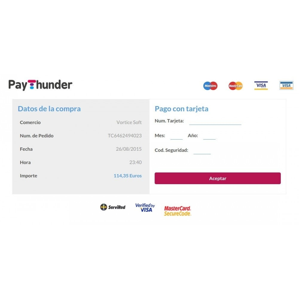 module - Payment by Card or Wallet - PayThunder - 3